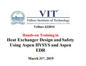Hands-on Training in Heat Exchanger Design and Safety Using Aspen HYSYS and Aspen EDR