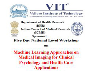 Five Day National Level Workshop on Machine Learning Approaches on Medical Imaging for Clinical Psychology and Health Care Applications