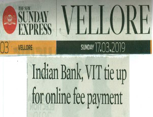 VIT SIGNS MOU WITH INDIAN BANK PRESS NEWS CLIPPINGS
