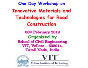 One Day Workshop on Innovative Materials and Technologies for Road Construction