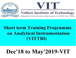 VIT TBI Short term Training Programme on Analytical Instrumentation
