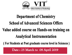 Hands-on Training on Analytical Instrumentation