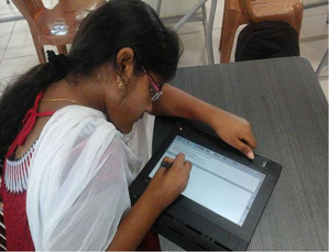 VIT Students write semester exam on special tablet