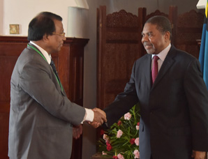 VIT Founder and Chancellor Dr. G. Viswanathan called on Dr. Ali Mohamad Shein, President of Zanzibar