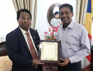 VIT Founder and Chancellor Dr. G. Viswanathan called on Mr. Danny Faure, President of Seychelles
