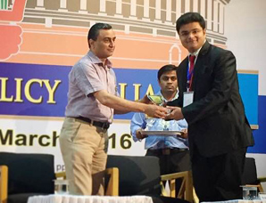 Kunal Joshi bags a Special Commendation award at National Policy Parliament