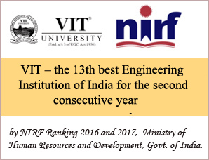 VIT – the 13th best Engineering Institution of India for the...