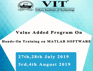 Value Added Program On HANDS-ON TRAINING ON MATLAB SOFTWARE