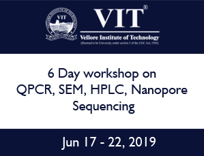 6 Day workshop on QPCR, SEM, HPLC, Nanopore Sequencing