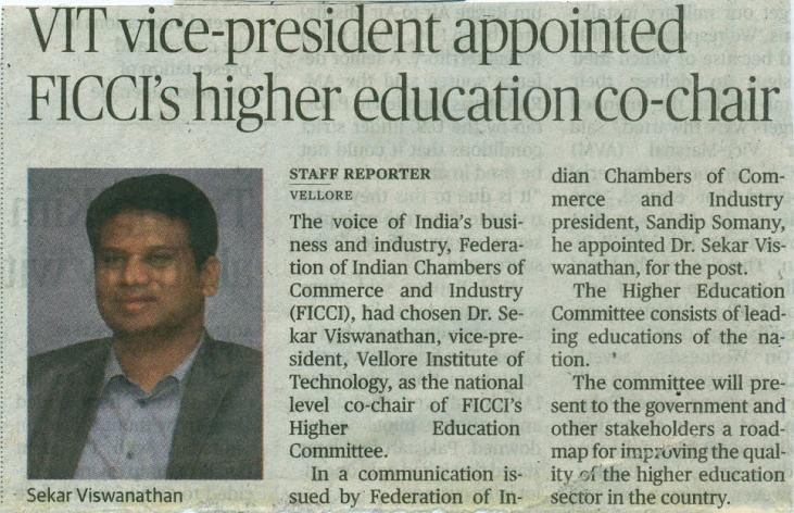 Dr.Sekar Viswanathan - FICCI-HE Co-Chair