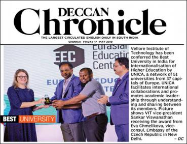 VIT Awarded by UNICA