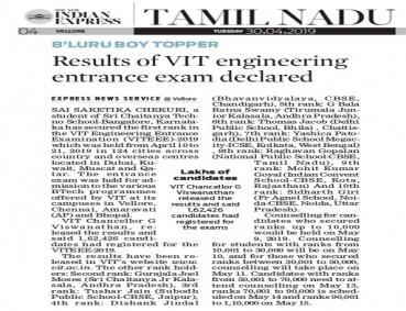 Karnataka Girl Tops in VITEEE