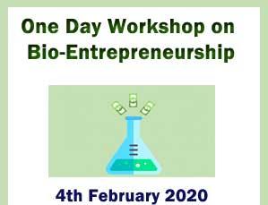 One Day Workshop on Bio-Entrepreneurship