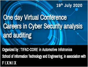 One day Virtual Conference   Careers in Cyber Security analysis and auditing