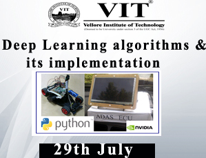 Deep Learning algorithms and its implementation