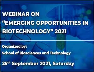 Webinar on Emerging Opportunities in Biotechnology - 2021