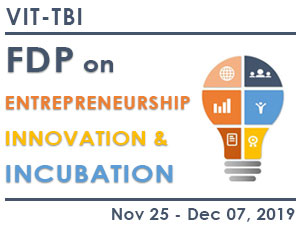 FACULTY DEVELOPMENT PROGRAMME ON ENTREPRENEURSHIP, INNOVATION AND INCUBATION