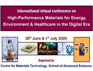 International virtual conference on  High-Performance Materials for Energy, Environment & Healthcare in the Digital Era
