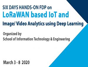 Six days Hands-on FDP on LoRaWAN Based Iot And Image/ Video Analytics Using Deep Learning
