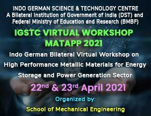 Indo German Bilateral Virtual Workshop on High Performance Metallic Materials for Energy Storage and Power Generation Sector