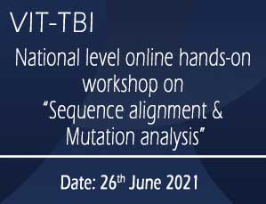 National level online hands-on workshop on Sequence alignment & Mutation analysis
