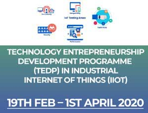 Technology Entrepreneurship Development Programme (Industrial Internet Of Things (IIot)