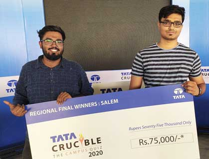 "VIT Quiz Club on winning the finals of the ""Tata Crucible: Campus Quiz"""