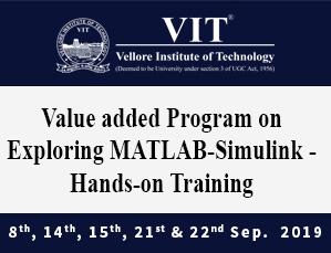 Five Day Value Added Program On Exploring MATLAB-Simulink-Hands-on Training