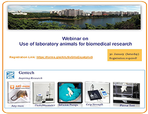 Webinar on Use of laboratory animals for biomedical research