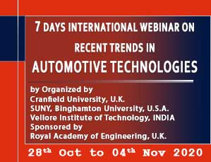 7 Days Webinar on Recent Trends in Auotomotive Technologies