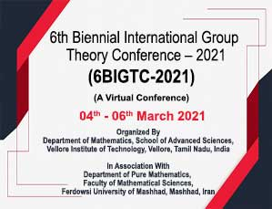 6th Biennial International Group Theory Conference - 2021