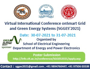 Virtual International Conference on Smart Grid and Green Energy Systems