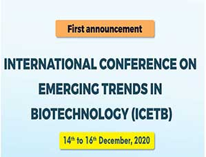 international conference on emerging trends in biotechnology (icetb)
