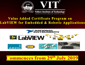 Value Added Certificate Program on LabVIEW for Embedded & Robotic Applications