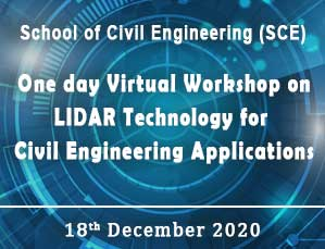 One day Virtual Workshop on LIDAR Technology for Civil Engineering Applications