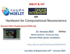 Online Internship on Hardware for Computational Neuroscience in association with NIELIT