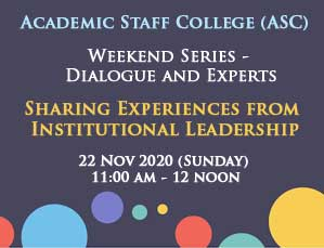 Sharing Experiences from Institutional Leadership