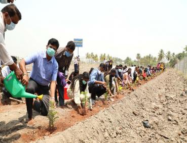 Inauguration of VIT Fruit Orchard planting
