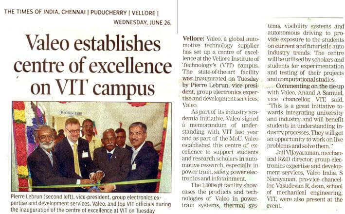 Valeo establishes centre of excellence